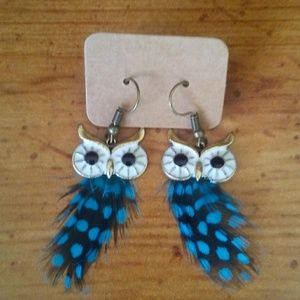 New Owl Feather Earrings